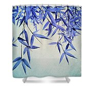 Bamboo Susurration Shower Curtain by Priska Wettstein