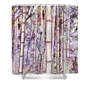 Bamboo Texture Shower Curtain