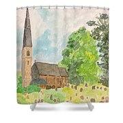 Bamford Church And Serenity Of Nature Shower Curtain