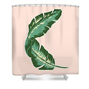Banana Leaf Square Print Shower Curtain by Lauren Amelia Hughes