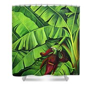 Banana Tree Flower Shower Curtain