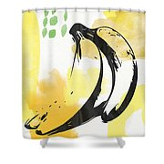 Bananas- Art By Linda Woods Shower Curtain