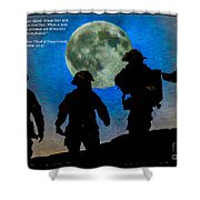 Band Of Brothers - Oil Shower Curtain