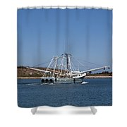 Band Of Gold Departing Cape Canaveral Shower Curtain