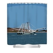 Band Of Gold Departing Port Canaveral Shower Curtain