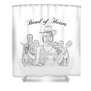 Band Of Horses Shower Curtain