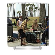 Band Playing 2 Shower Curtain