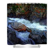 Banded Rock At Livermore Shower Curtain