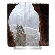 Bandelier Indian Ruins Shower Curtain