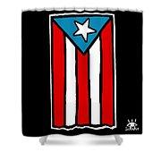 Bandera De Puerto Rico Shower Curtain