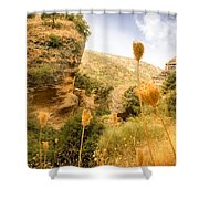 Bandit Country Near The Edge Of The Fan In Ronda Area Andalucia Spain  Shower Curtain