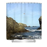 Bandon 28 Shower Curtain by Will Borden