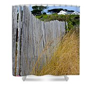Bandon Beach Fence Shower Curtain