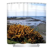Bandon Harbor Entrance Shower Curtain