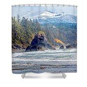 Bandon Oregon Shower Curtain