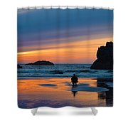 Bandon Sunset Photographer Shower Curtain