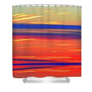 Bands Of Colour Five  Shower Curtain
