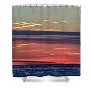 Bands Of Colour  Shower Curtain