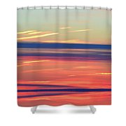Bands Of Colour Three  Shower Curtain