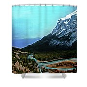 Banff Alberta Rocky Mountain View Shower Curtain