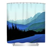 Banff Jasper Blue Shower Curtain