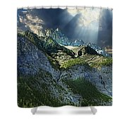 Mount Cory, Banff Shower Curtain