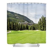 Banff Springs Golf And The Castle Shower Curtain