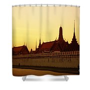 Bangkok Royal Palace Complex Shower Curtain