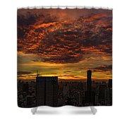 Bangkok Sunrise Shower Curtain