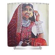 Banjaran With Traditional Attire Shower Curtain