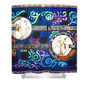 Banjos - Bordered Shower Curtain