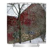 Bank Barn Shower Curtain