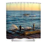 Bank Fishing Shower Curtain
