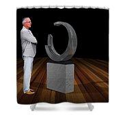 Bank Sculpture Design Shower Curtain
