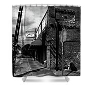 Bank Street Shower Curtain by Valeria Donaldson