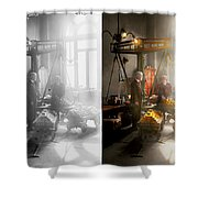 Banker - Worth Its Weight In Gold 1917 Side By Side Shower Curtain