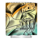 Banking Shower Curtain