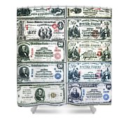 Banknotes Shower Curtain