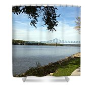 Banks And Bridges Shower Curtain