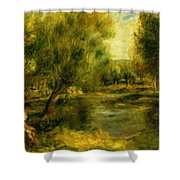 Banks Of The River Shower Curtain