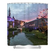 Banksy Dismaland Shower Curtain