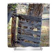 Bannack Gate At Sunrise Shower Curtain