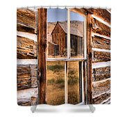 Bannack Reflection In The Past Shower Curtain