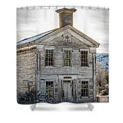 Bannack Schoolhouse And Masonic Temple Shower Curtain