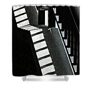 Bannister And Shadows Shower Curtain