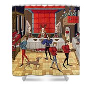 Banquet, 15th Century Shower Curtain