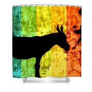 Bansky In Colors Shower Curtain