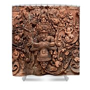 Banteay Srei Bas Relief Carvings - Cambodia Shower Curtain