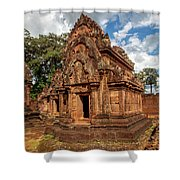 Banteay Srei Mandapa Sanctuary - Cambodia Shower Curtain