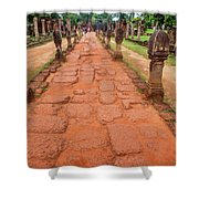 Banteay Srei Red Sandstone Road - Cambodia Shower Curtain